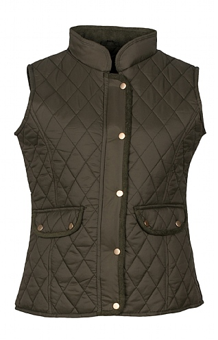 Cord Trim Quilted Gilet