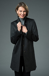 Cashmere Covered Placket Coat