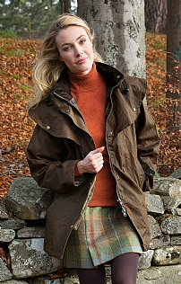 Ladies Wax Drover Coat