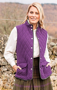 Ladies Quilt Tipped Gilet
