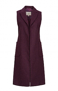 Ladies 3/4 Length Sleeveless Coat