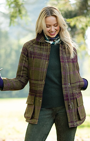 Ladies Tweed Shooting Coat