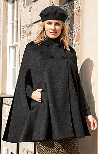 Cashmere Butterfly Collar Cape