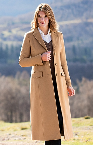 Ladies Wool & Cashmere Full Length Coat