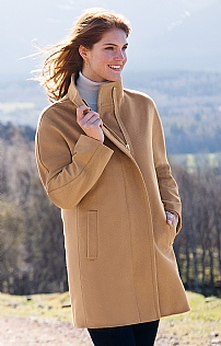 Ladies Wool & Cashmere Zip Coat