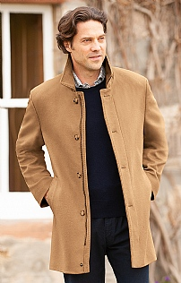 Men's Wool & Cashmere Car Coat