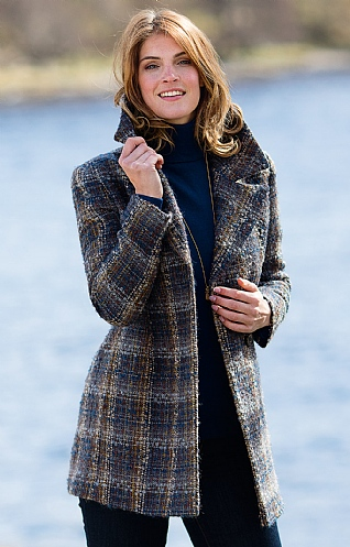 Ladies Crossover Mohair Coat