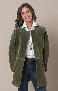 Ladies Edge To Edge Suede Jacket