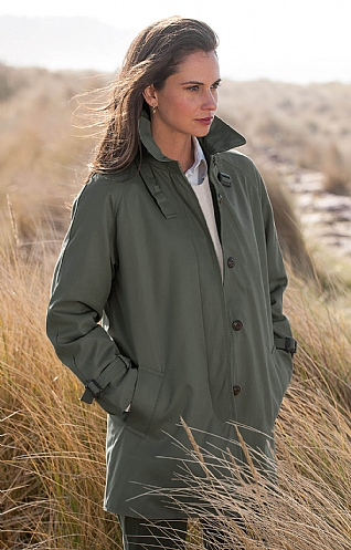 Ladies 3/4 Length Microfibre Raincoat