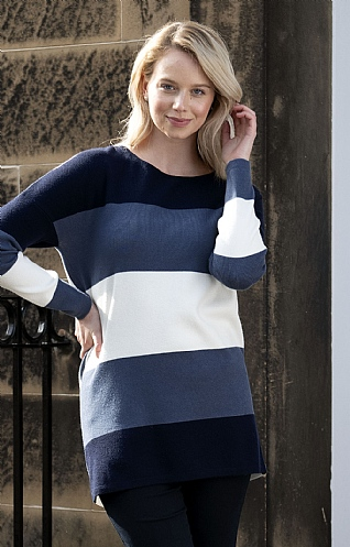 Three Multi Stripe Tunic