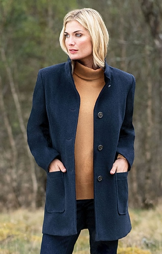 Wool Cashmere Car Coat
