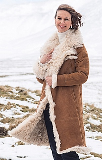 Ladies Sheepskin Coat - House of Bruar
