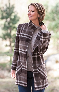 Boucle Tweed Patch Pocket Coat