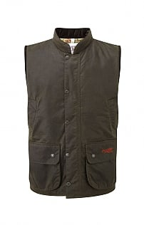 Mens John Partridge Wax Gilet