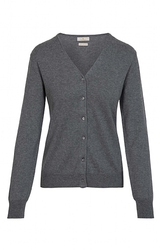 3ef0b189a1589 Ladies Cotton   Cashmere V Neck Cardigan