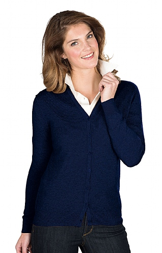 Cotton & Cashmere V Neck Cardigan