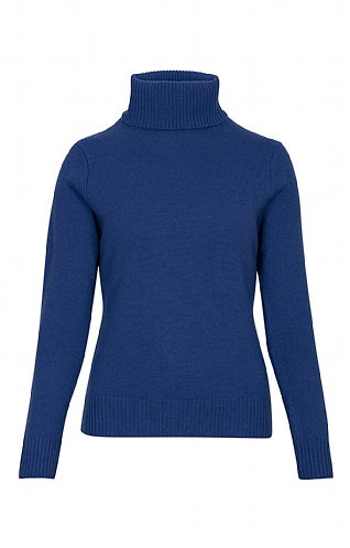 Ladies Lambswool Roll Neck