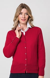Ladies Merino Crew Neck Cardigan