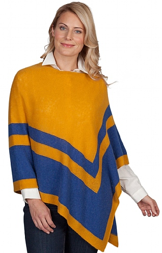 Ladies Cashmere Tipped Poncho