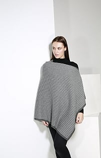 Johnstons Of Elgin Cashmere Houndstooth Poncho
