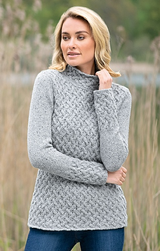 Wool & Cashmere Trellis Sweater