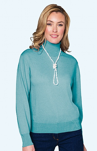 Ladies Merino Roll Neck