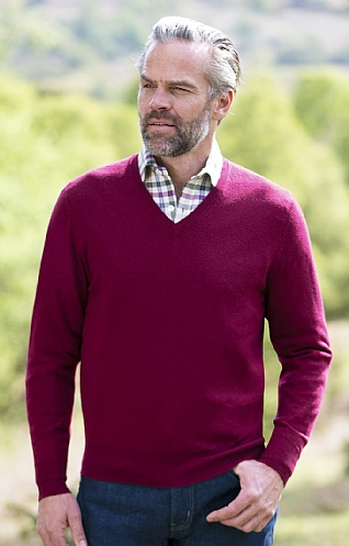 Men's Merino V Neck