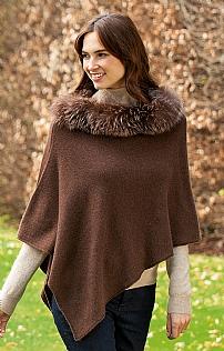 95bf544f5 Fox Fur Cashmere Poncho