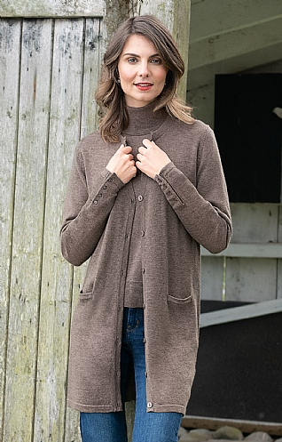 Ladies Merino Boyfriend Cardigan
