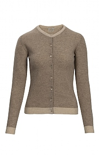 Cashmere Tipped Classic Cardigan