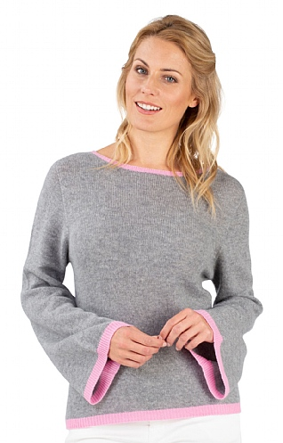 Tipped Bell Sleeve Jumper