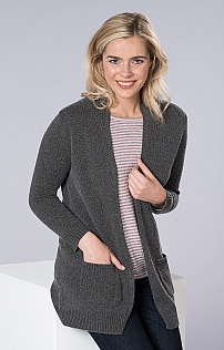 Silk and Cashmere Waterfall Cardigan