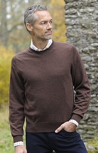 Scottish Glenshiel Merino Wool Crew Neck