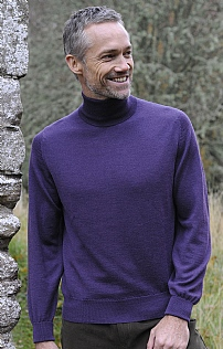 Scottish Glenshiel Merino Wool Roll Neck