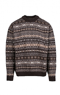 Mens Fairisle Crew