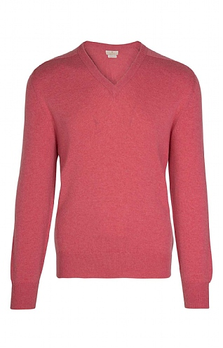 Barrie 3 Ply Cashmere V Neck