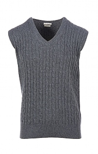 Mens Cashmere 4 Ply Cable Slipover