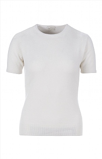 Ladies Cashmere 2 Ply Short Sleeve Crew Neck