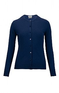 Ladies Cashmere 2 Ply Crew Cardigan