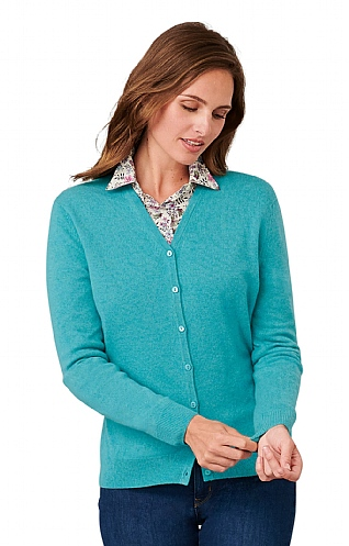 Ladies Cashmere 2 Ply V Cardigan