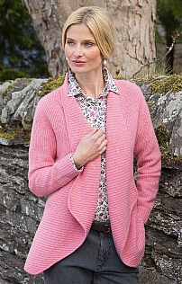 4-Ply Cashmere Rib Edge To Edge Cardigan