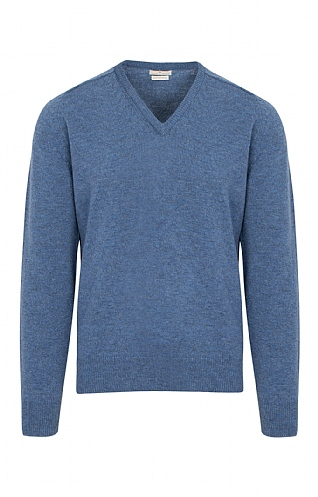House of Bruar 2 Ply Lambswool V Neck