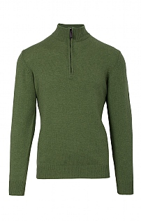 Mens Country Lambswool T Zip