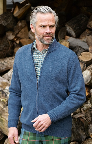 Mens Country Lambswool Zip Jacket