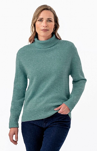 House of Bruar Lambswool Roll Neck