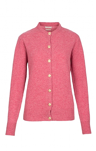House of Bruar Lambswool Crew Neck Cardigan
