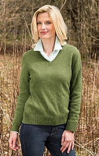 Ladies Country Lambswool V Neck