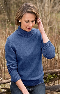 Ladies Country Lambswool Roll Neck