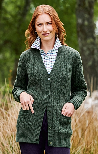 Country Lambswool Cable Cardigan