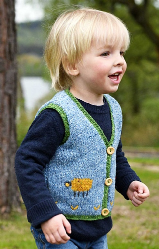 Child's Merino Sheep Waistcoat